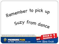"Stick-It Anywhere Gloss Memo Board (9.5""x5"")"