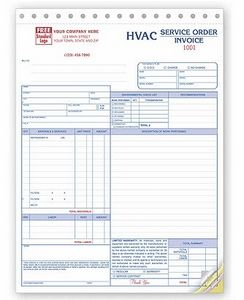 hvac service orderinvoice form 3 part 6532 3 ideastage promotional products