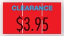 Monarch® 1110® Imprinted Red 1-Line Pricing Label