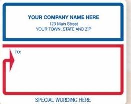 laser inkjet white mailing labels w blue red border 12688 1