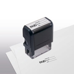 Self Inking Stock Paid Stamp W Check No Amount Date