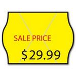 Meto® Stock Yellow 2-Line Pricing Label