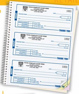High-Impact Desk-Size Receipt Book (2 Part)