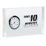 Custom Acrylic Rectangle Desk Clock