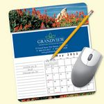 Custom MousePaper Calendar 12 Month 7.25