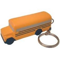 School Bus Stress Reliever Keytag