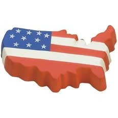 Us Map Flag Stress Reliever
