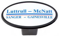 Laminate Trailer Hitch Cover - White Reflective Material