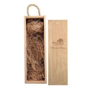 Laser Engraved Single Bottle Wood Box