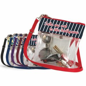 14fb1a0210c9c Clear Stadium Approved Crossbody Purse Full Color Ribbon Trim