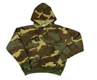 Youth Camouflage Hooded Pullover Sweatshirt Woodland (S- X-Large)