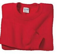 Gildan® Heavy Blend™ Youth 7.75 Oz. 50/50 Crewneck Sweatshirt (White Small-X-Large)