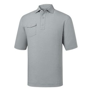 19db80eb FootJoy ProDry® Performance Spun Poly, Chest Pocket Self Collar Athletic  Fit Shirt (Heather Gray) - 22846 - IdeaStage Promotional Products