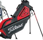 Custom Titleist Players 4 Stand Bag (Gray/Red)