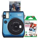 Custom FujiFilm North America Blue Instax Mini 70 Camera Bundle