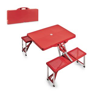 Portable Folding Picnic Table W Four Integrated Seats 811 00 Ideastage Promotional Products