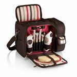 Custom Malibu - Picnic Tote w/Service For Two - Moka/Aviano Patterns