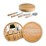 Custom Circo - Circular Cutting Board w/4 Stainless Steel Cheese Tools