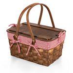 Custom Kansas Handwoven Wood Picnic Basket