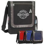 Custom Messenger Bag w/ Front Zipper Pocket