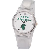 Unisex Plastic Watch with strong plastic band & metal buckle, color watch hands, Japan movement