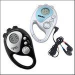 Custom Clip On FM Scan Black Radio w/ Stopwatch