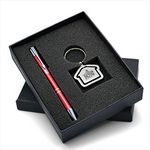 Custom Lovely Gift Set with Polished House Shaped Keychain & Aluminum Pen makes an ideal gift