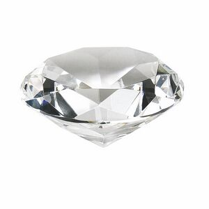 Clear Crystal Diamond Paperweight