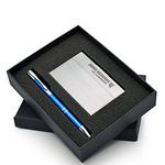 Custom Beautiful Gift Set with Polished Business Card Case & Aluminum Pen
