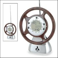 Steering Wheel World Time Clock w/ FM Scan Radio