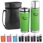 Custom Tumbler Gift Set w/ Black Leatherette Carry Case