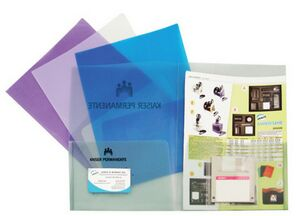 Twin Pocket Folder W Extra Business Card Holder Se277 Ideastage