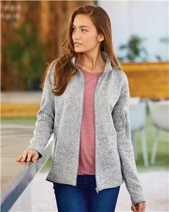 Custom Burnside Women's Sweater Knit Jacket