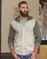 Alternative® Eco Fleece™ Rocky Color Blocked Hooded Full-Zip Sweatshirt