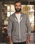 Custom Alternative Unisex Eco-Jersey Hooded Full Zip T-Shirt