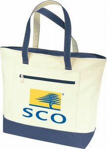 Cotton Canvas Tote Bag w  Zippered Outside Front Pocket - BS124 - IdeaStage  Promotional Products a8ffda30b88a9