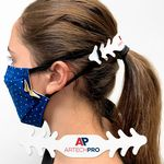 Custom Ear Saver Mask Clip .023 White Polyethylene Plastic Full Color Imprint