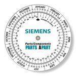 .020 White Plastic Date Finder Wheel Calculator (4.25