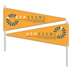 Flexible PVC Pennants Full Color Double-Sided Imprint