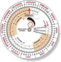 "Pregnancy Birth Date Finder Wheel Calculator 4.25"" dia, Full Color"