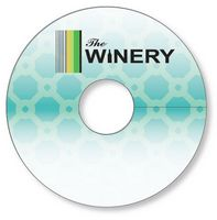 "Wine Glass Tag .010 White PVC Plastic 2.7"" circle Full color & write-on wip"