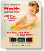 ".020 White PVC Bath Thermometer, Stock Rectangle (3""x3.5""), Full Color"