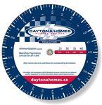 .020 White Plastic Mortgage Wheel Calculator (4.25