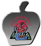 Custom Clear Apple Paper Weight (4 1/8