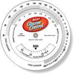 Custom .020 White Plastic Body Mass Index Wheel Calculator (4.25