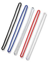 "6"" Flexible Vinyl Loops for luggage tags / available in red, black, blue, w"