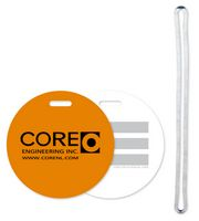"Luggage Tag with Write-On Surface 40 mil Plastic 3"" Round"