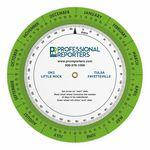 Court Reporter Scheduling Wheel Chart .020 White Plastic (6