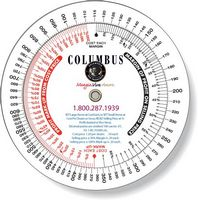 ".020 White Plastic Profit Markup Wheel Calculator (4.25"" dia.), Full Color Digital Imprint"