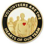 Custom Volunteers are Hearts Pin
